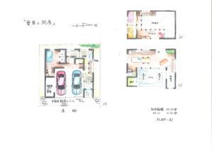 大阪市 新築手紙間取りぎゃらりーブルと院ガレージのある家41